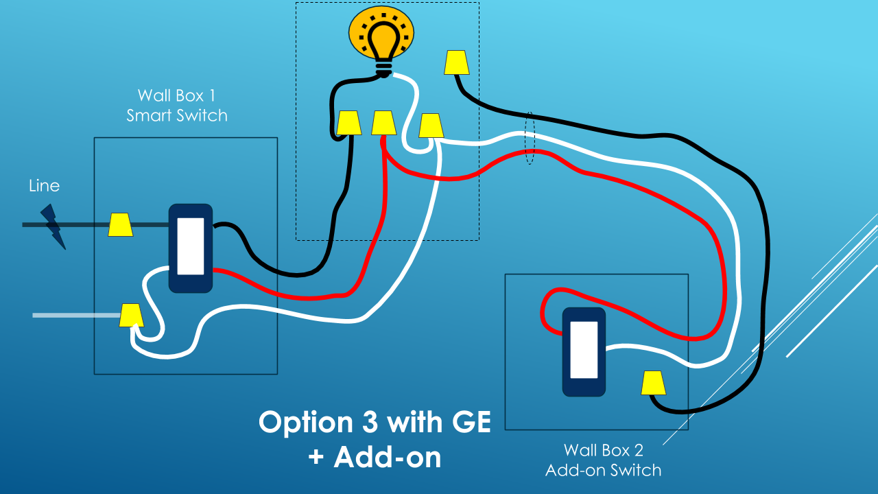 3 Way Smart Switch Wiring - Circuit Connection Diagram •